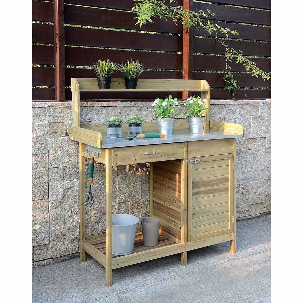 Deluxe Potting Bench with Cabinet - V10-460
