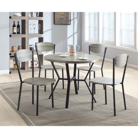 5 Piece Round Dining Table U0026 Chair By Crown Mark