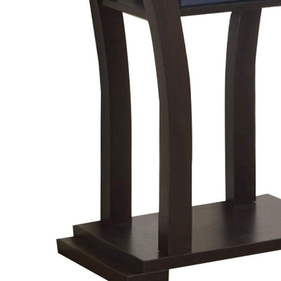 Wooden Console Table With 1 Shelf Dark Espresso By Crown Mark CWM-4906
