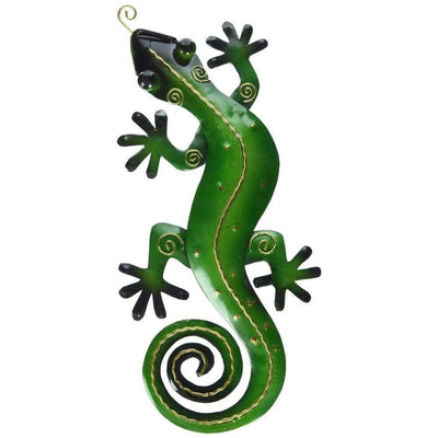 D Art Collection Iron Green Gecko WallDecor Small