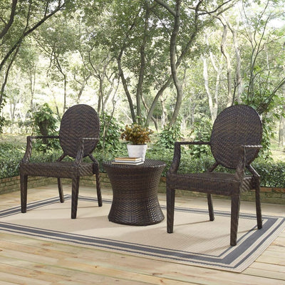 Casper 3 Piece Outdoor Patio Set - EEI-4014-BRN-SET MDY-EEI-4014-BRN-SET