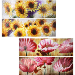 Oil Painting Flower 4 Styles By Benzara