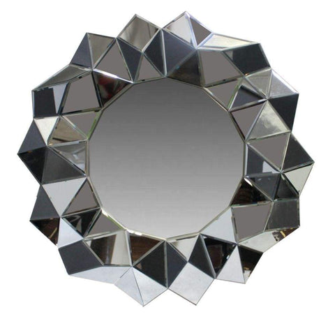 Benzara 56009 Metal Decorative Wall Mirror