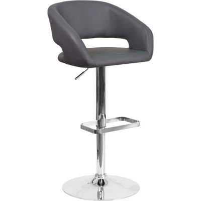 Flash Furniture Gray Adjustable Barstool Gray