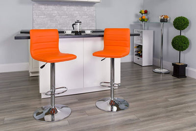 Orange Contemporary Barstool Orange