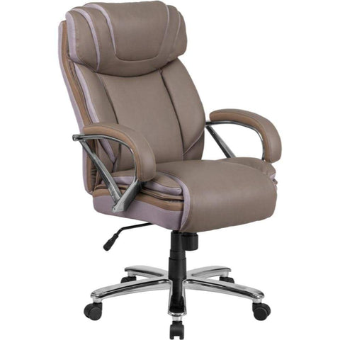Taupe Leather Office Chair