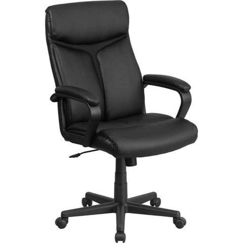 High Back Black Leather Chair