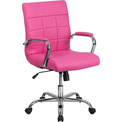 Mid-Back Pink Vinyl Chair