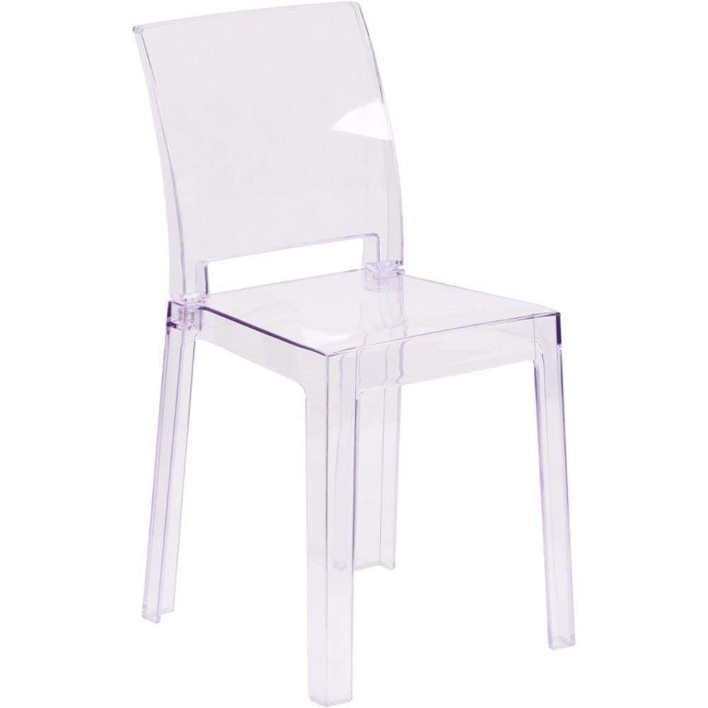 Ghost Chair in Transparent Crystal with Square Back [OW-SQUAREBACK-18-GG]