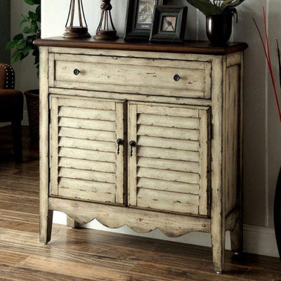 Hazen Country Style  Cabinet, Antique White & Brown By Casagear Home