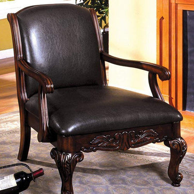 Sheffield Traditional Occasional Chair, Antique Dark Cherry By Casagear Home