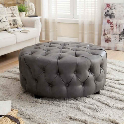 Slouchy Contemporary Ottoman, Gray By Casagear Home