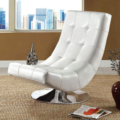 Trinidad Contemporary Swivel Chair, White By Casagear Home