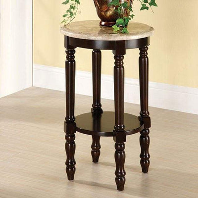 Santa Clarita Traditional Plant Stand , Dark Cherry By Casagear Home