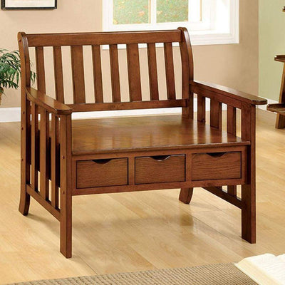 Pine Crest Bench With 3 Drawers By Casagear Home