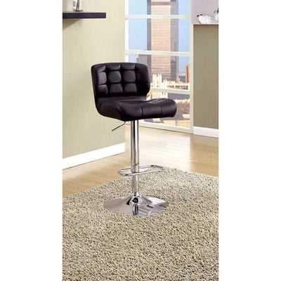 Kori Contemporary Bar Chair, Black Finish By Casagear Home