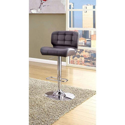 Kori Contemporary Bar Chair, Gray Finish By Casagear Home