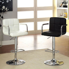 Corfu Contemporary Bar Chair With Arm, Black