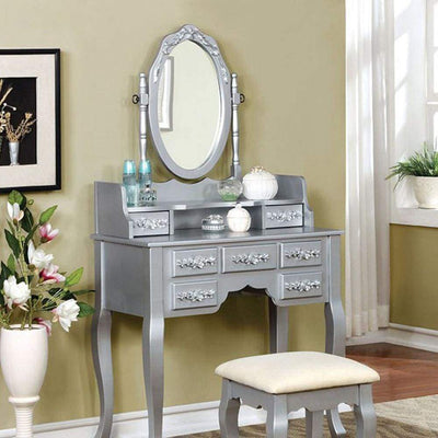 HARRIET Traditional Vanity, Silver By Casagear Home