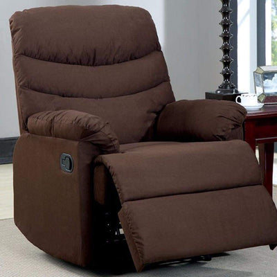 Plesant Valley Transitional Recliner Chair With Microfiber, Brown By Casagear Home