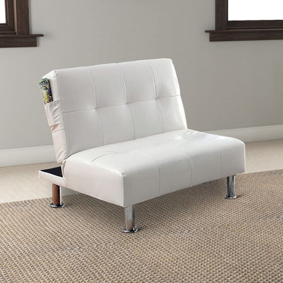 Bulle Contemporary Chair, White By Casagear Home