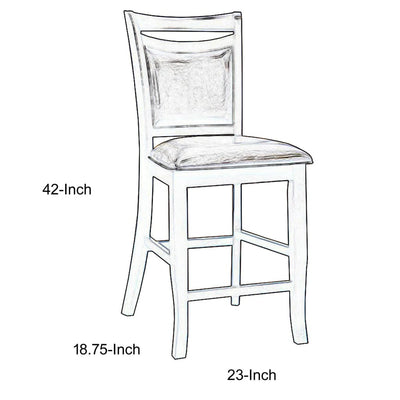 Woodside II Transitional Counter Height Chair Set Of 2-CM3024PC-2PK FOA-CM3024PC-2PK
