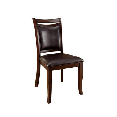 Woodside Transitional Side Chair With Padded Back and Seat, Expresso, Set of 2 By Casagear Home