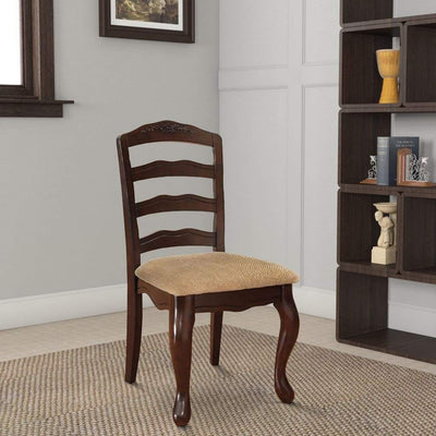 Townsville Cottage Side Chair, Dark Walnut Finish, Set of 2 By Casagear Home
