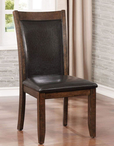 Meagan I Transitional Side Chair Brown Cherry Set of 2 By Casagear Home FOA-CM3152SC-2PK