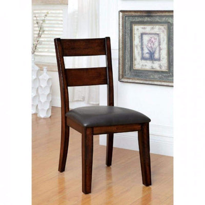 Dickinson I Cottage Side Chair, Dark Cherry Finish, Set of 2 By Casagear Home
