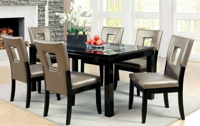 Evant I Contemporary Side Chair, Black Finish, Set of 2 By Casagear Home