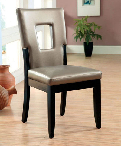 Evant I Contemporary Side Chair Black Finish Set of 2 By Casagear Home FOA-CM3320SC-2PK