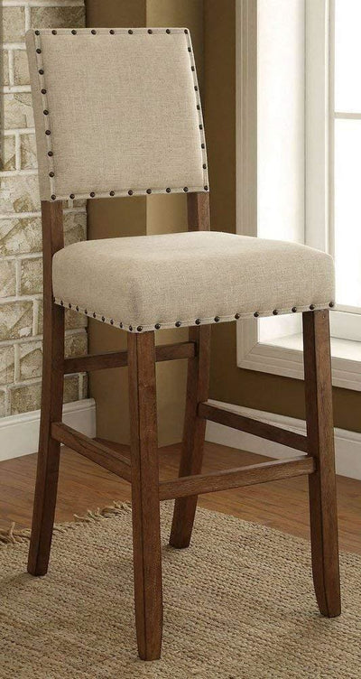 Sania Natural Tone Barstool, Set of 2 By Casagear Home