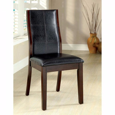 Townsend I Transitional Side Chair, Brown Cherry Finish, Set of 2 By Casagear Home