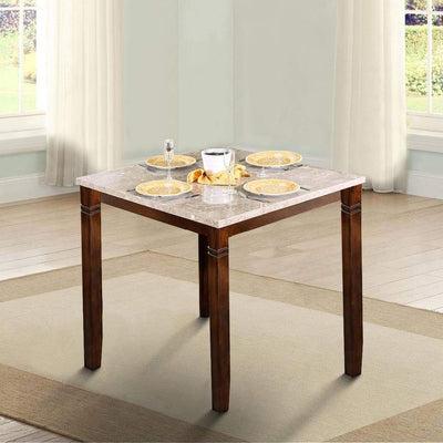 Marstone II Counter Height Table In Brown Cherry Tone By Casagear Home