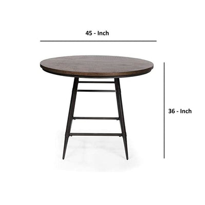Mullane Industrial Counter Height Table Weathered Gray By Casagear Home FOA-CM3370RPT