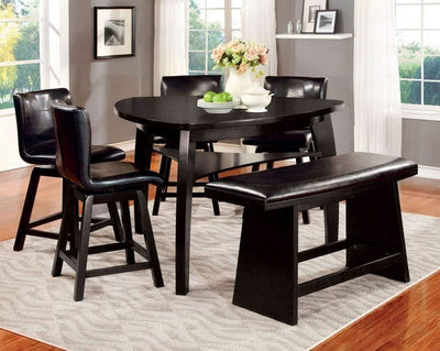 Hurley Counter Height Chair Black Finish Set of 2 By Casagear Home FOA-CM3433PC-2PK