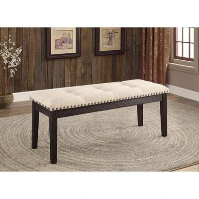 Dodson I Contemporary Bench, Ivory By Casagear Home