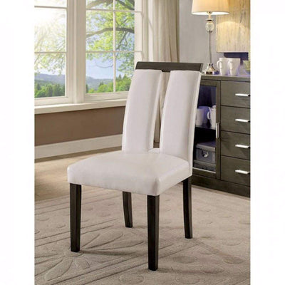Luminar I Contemporary Side Chair In White, Gray Finish, Set of 2 By Casagear Home