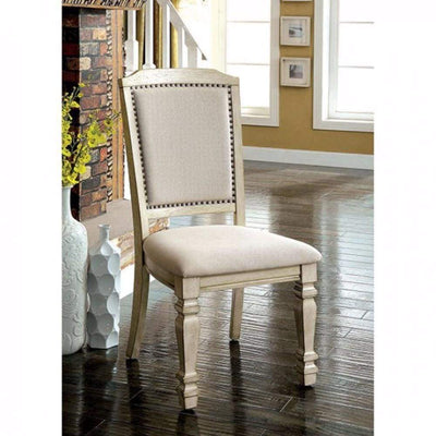 Holcroft Transitional Side Chair, Antique White, Set Of 2 By Casagear Home