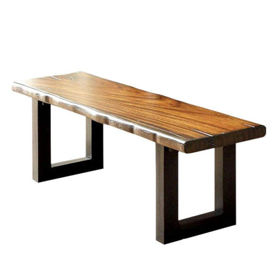 Maddison Contemporary Style Bench , Tobacco Oak By Casagear Home