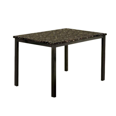 Colman Modern Dining Table In Black By Casagear Home