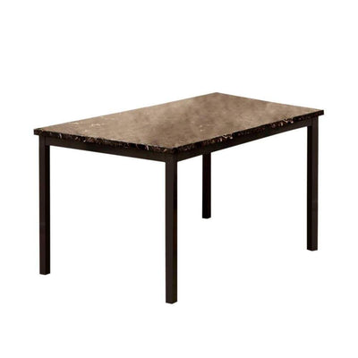 Colman Contemporary Dining Table, Black By Casagear Home