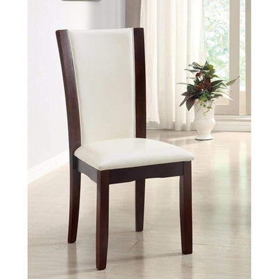 Manhattan I Contemporary Side Chair, White Finish, Set of 2 By Casagear Home
