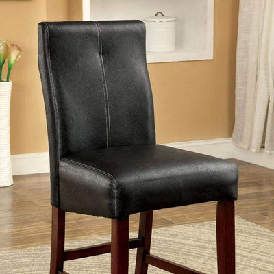 Bonneville II Contemporary Counter Height Chair, Black, Set of 2 By Casagear Home