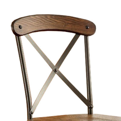 Crosby Industrial Side Chair, Bronze Finish, Set of 2