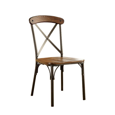 Crosby Industrial Side Chair Bronze Finish Set of 2 FOA-CM3827SC-2PK