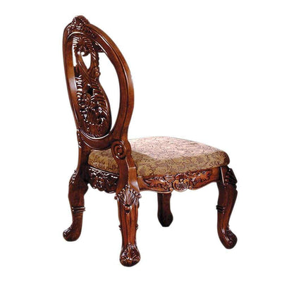 Tuscany I Traditional Side Chair, Set of 2, Antique Cherry By Casagear Home