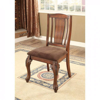 Johannesburg I Traditional Side Chair, Brown Cherry, Set of 2 By Casagear Home