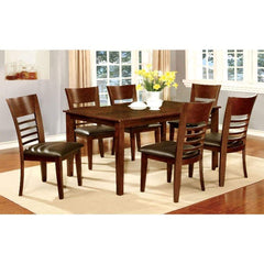 Hillsview I Transitional Dining Table, Brown Cherry